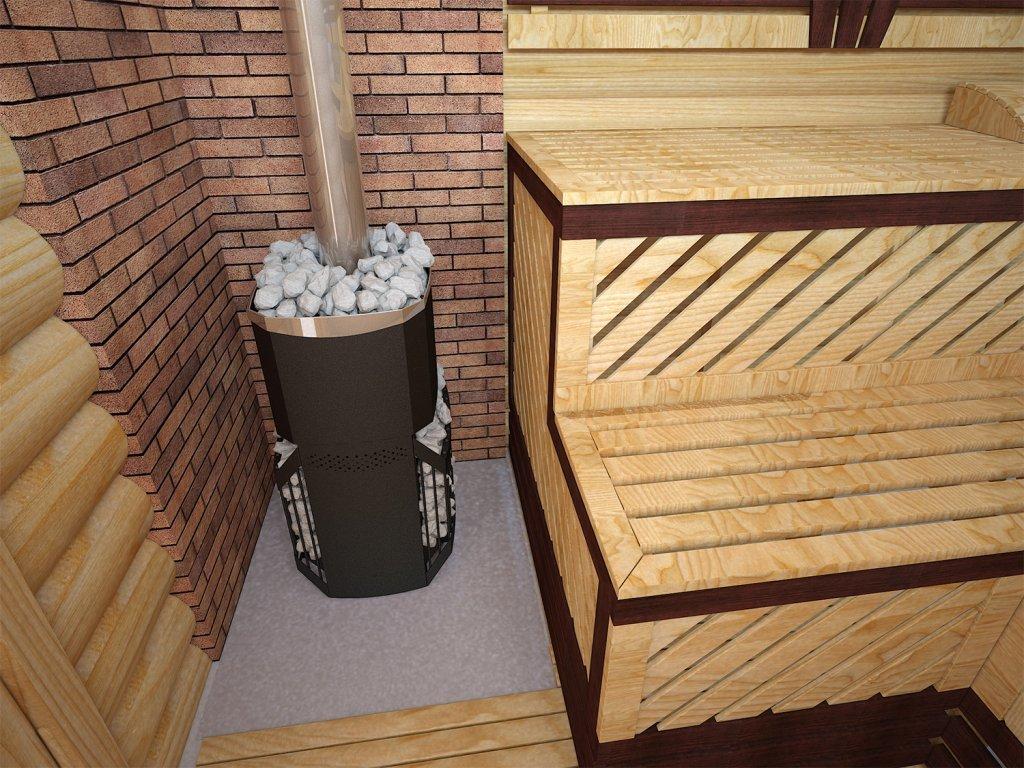 Корпус банной печки может разогреться до 400°С
