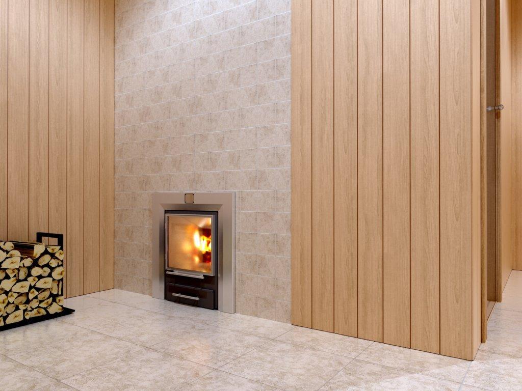 Банная печь с панорамной дверцей